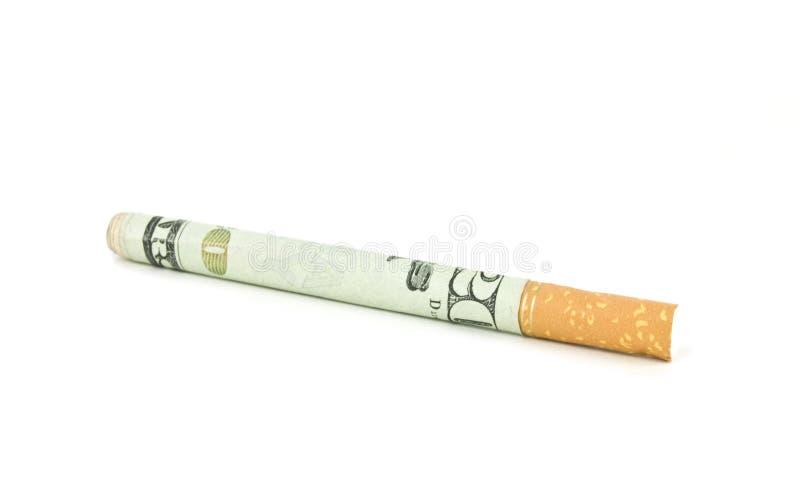 Expensive cigarette stock photo