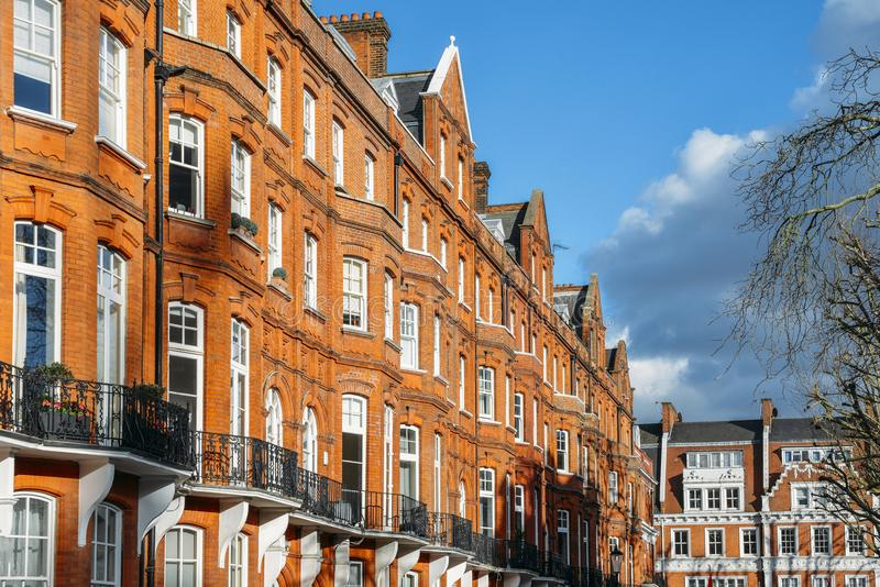 Expensive Edwardian Block Of Period Red Brick Apartments Typically ...