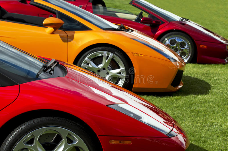 Expensive European Sports Cars stock images