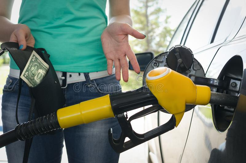 Expensive fuel. royalty free stock image