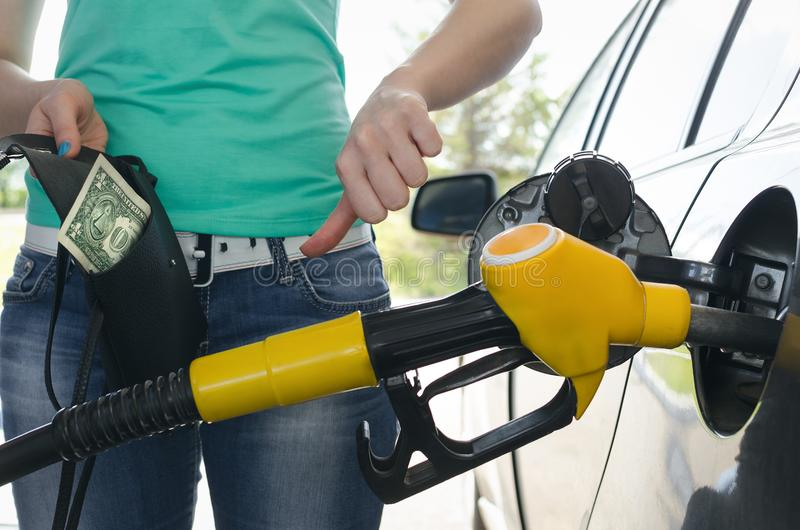 Expensive fuel. stock photography