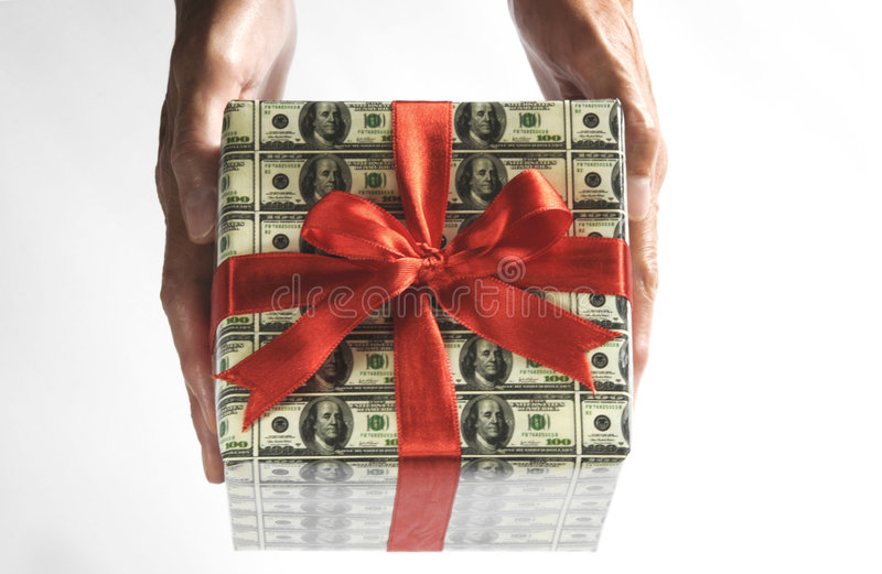 Expensive gift stock photos