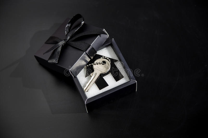 Expensive gift in a beautiful package - own housing stock images