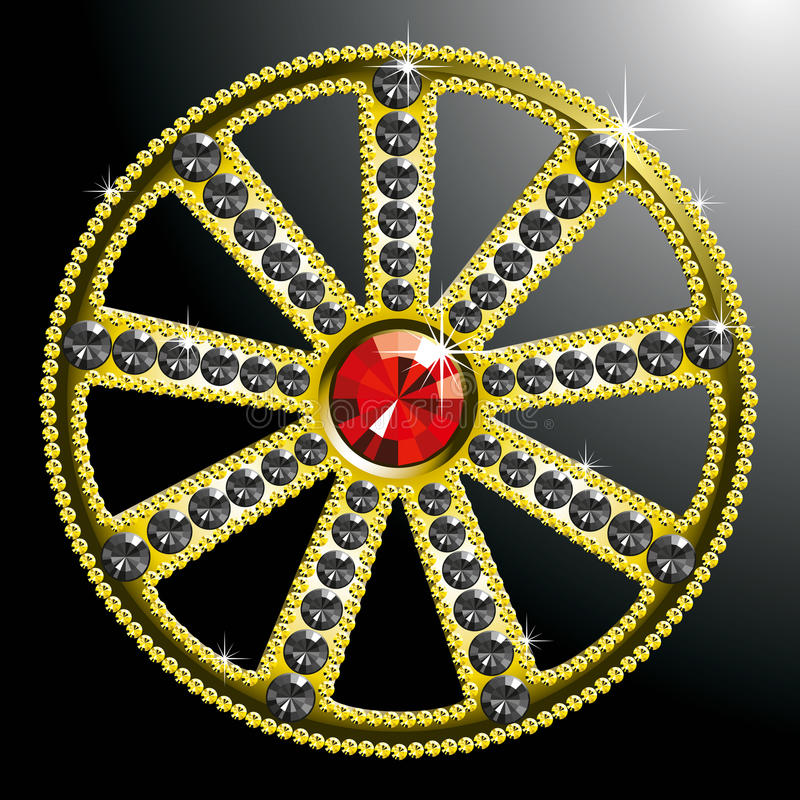 Download Expensive Gold Diamond Wheel Stock Vector - Image: 18658970