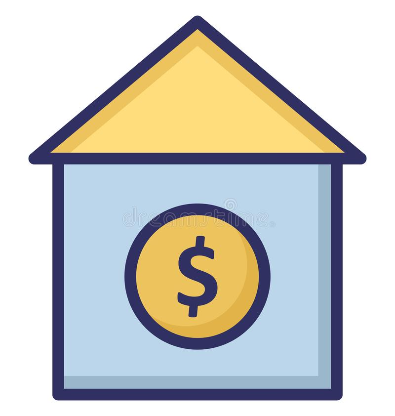 Expensive home, home Isolated Vector Icon which can be easily edit or modified. stock illustration