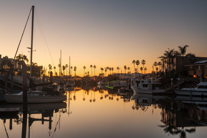 Download Expensive Homes And Boats Ventura Stock Image - Image of jetties, america: 28481185