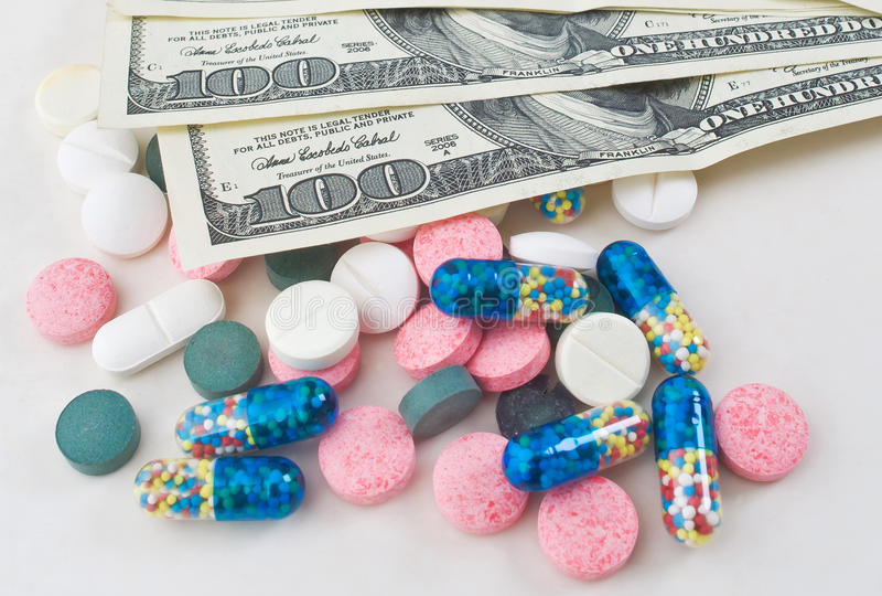 Expensive Medicine Stock Photography