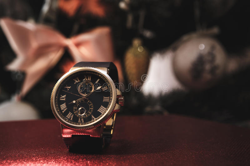 Expensive men's watches stock photo