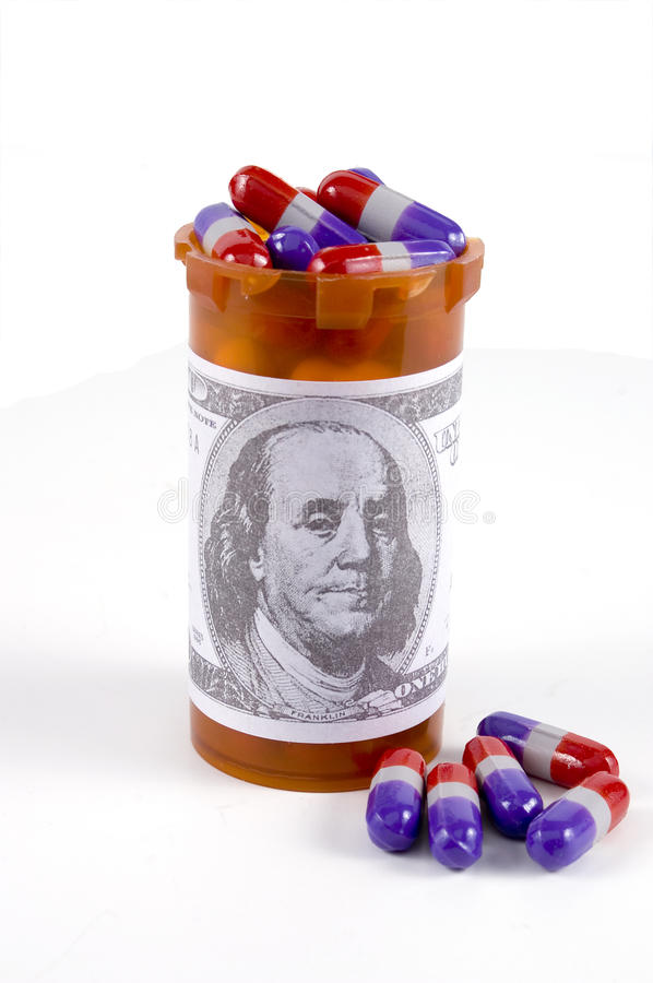 Expensive Pills royalty free stock photo
