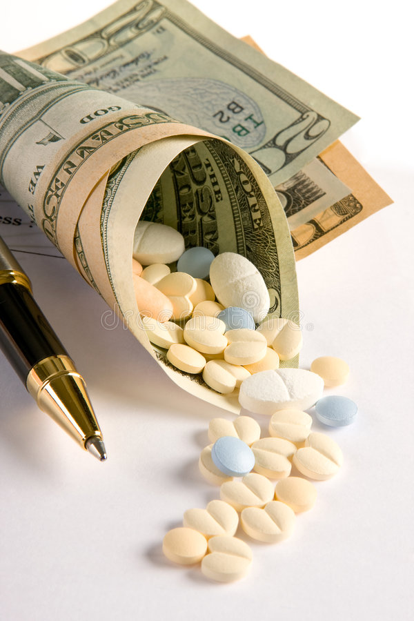 Expensive prescriptions royalty free stock photography