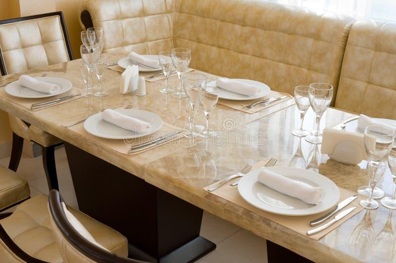 Expensive restaurant interior stock image of