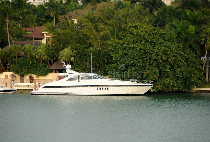 Expensive yacht royalty free stock photography