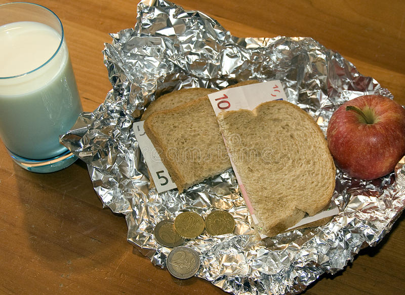 Expensively gezonde Lunch royalty-vrije stock foto