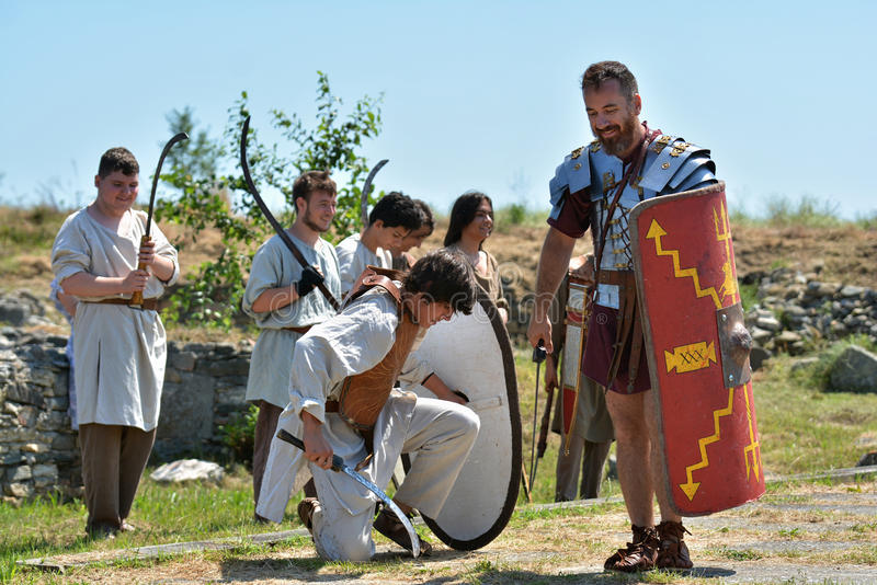 Experiência autêntica na fortaleza de Histria, Romênia fotografia de stock royalty free