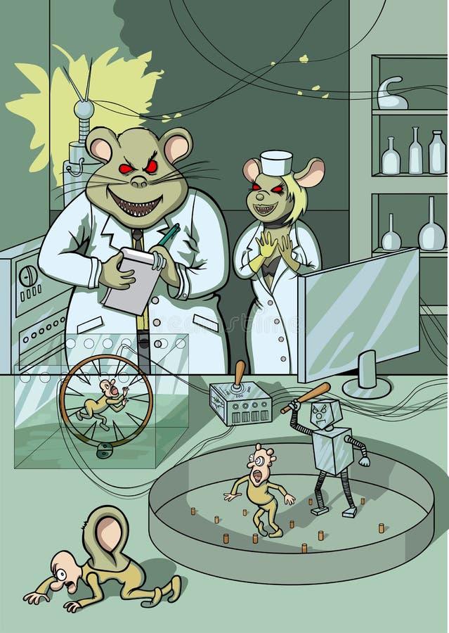 Experiência científica ilustração do vetor