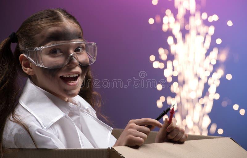 Experiência científica. fotografia de stock
