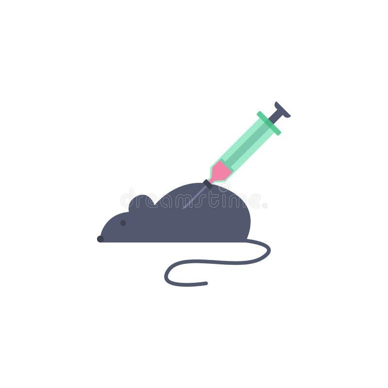 experiência colorida em um ícone do rato do laboratório Elemento da ciência e do laboratório para apps móveis do conceito e da We ilustração do vetor
