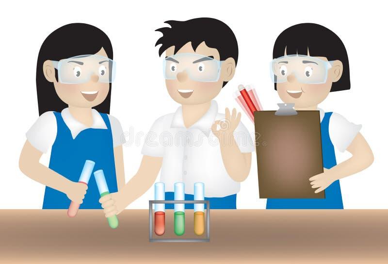 Experiência da ciência ilustração do vetor