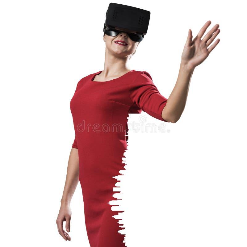 Experiência da realidade virtual ilustração royalty free