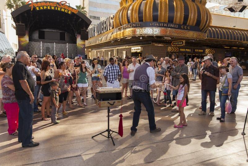 Experiência de Fremont, dia em Las Vegas, nanovolt o 21 de abril de 2013 imagens de stock
