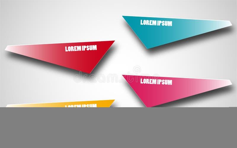 Experiência de funcionamento de Infographic para seus negócio e apresentação Elementos coloridos 4 etapas Ilustração do vetor ilustração do vetor