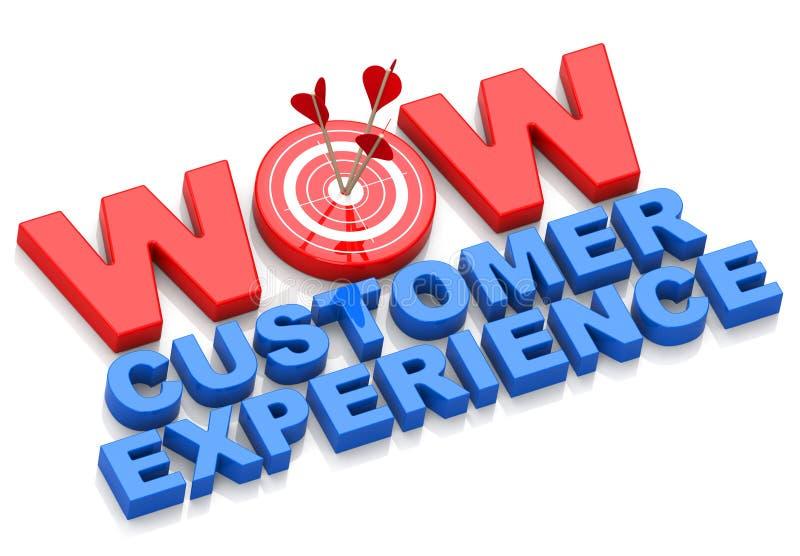 Experiência do cliente do wow ilustração stock