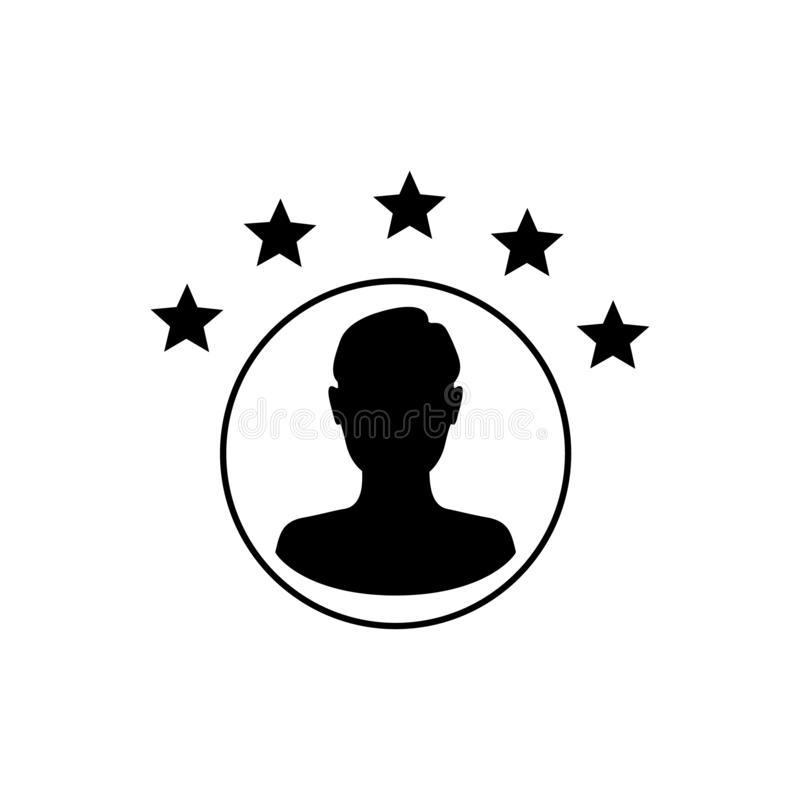 Experiência do cliente ou satisfação de 5 estrelas ilustração royalty free