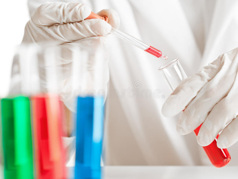 Experiência química imagem de stock royalty free