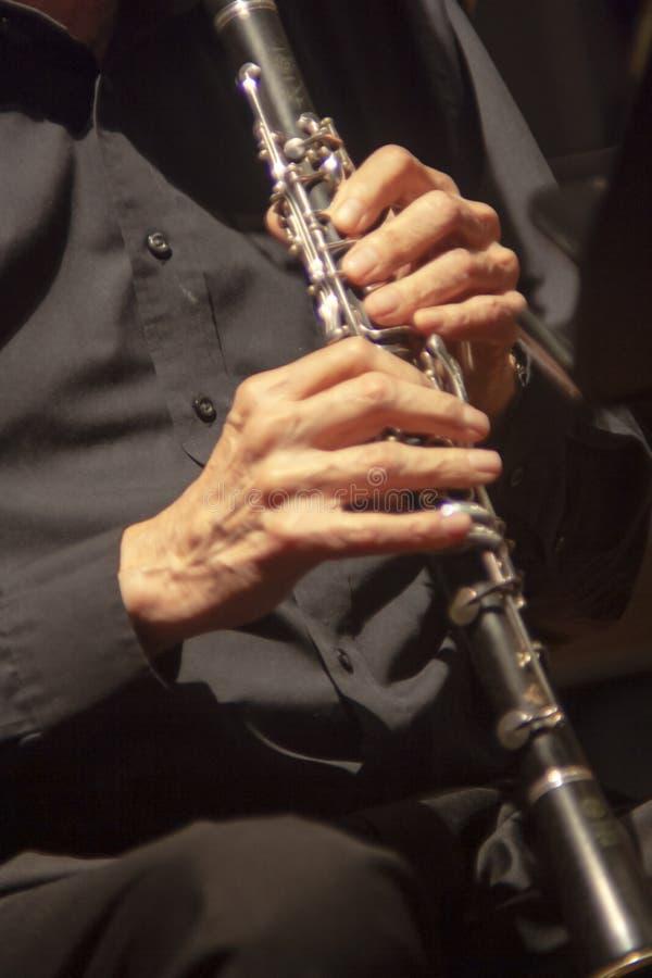 Experiência que joga o clarinete fotografia de stock royalty free