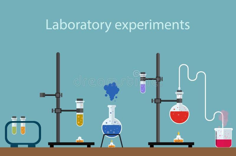 Experiências do laboratório ilustração royalty free