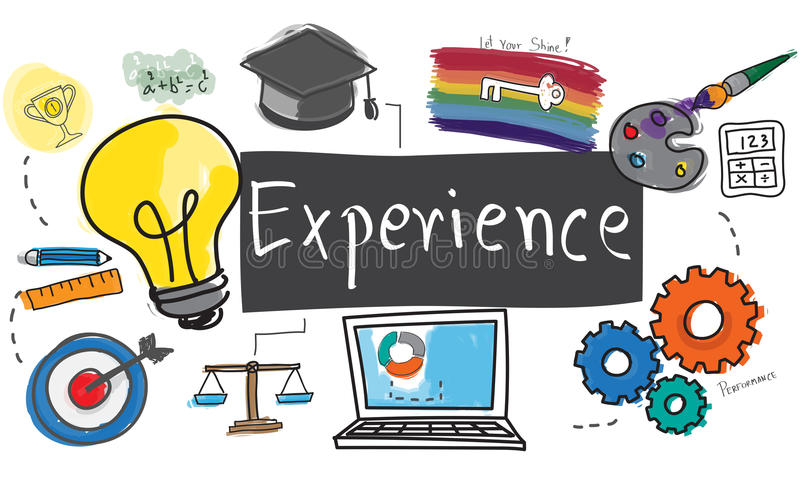 Experience Balance Bad Good Observation Talent Concept.  vector illustration