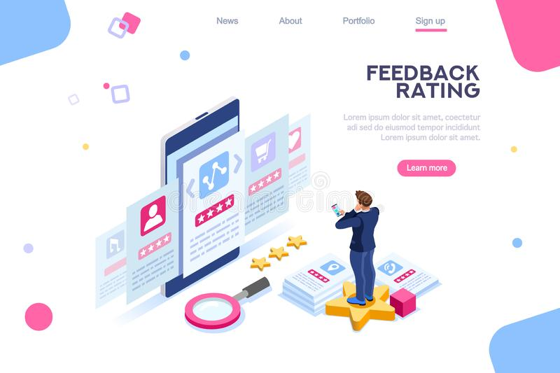 User Feedback Experience Choice Rating Concept stock illustration