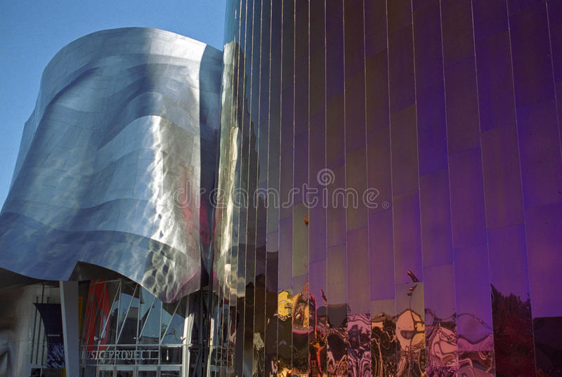 Experience Music Project Entrance stock photography