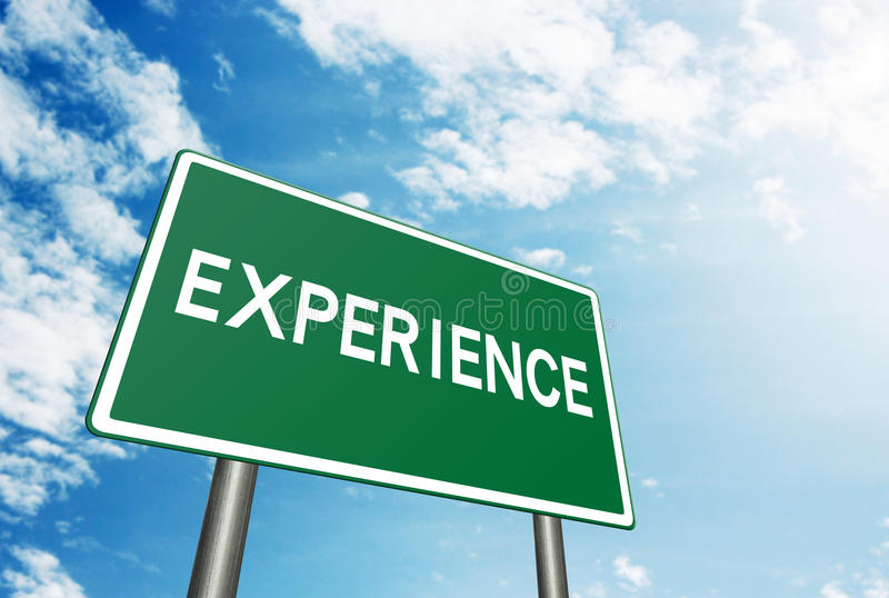 Experience sign royalty free stock photos