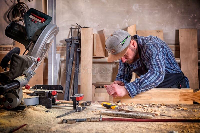 Experienced carpenter royalty free stock photos
