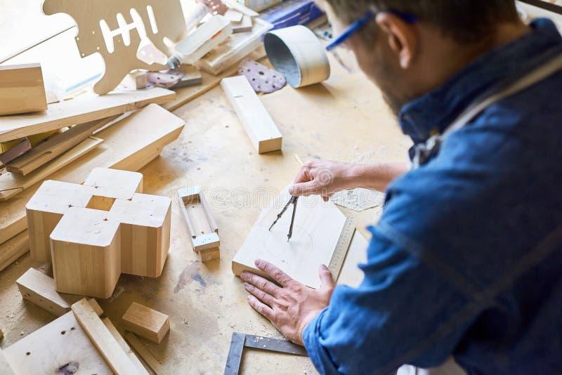 Experienced Carpenter at Work royalty free stock photos