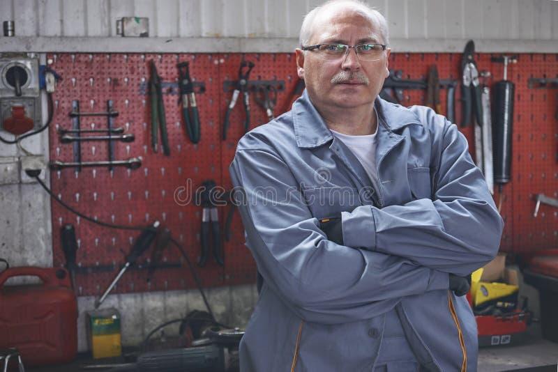 Experienced mechanic royalty free stock photo