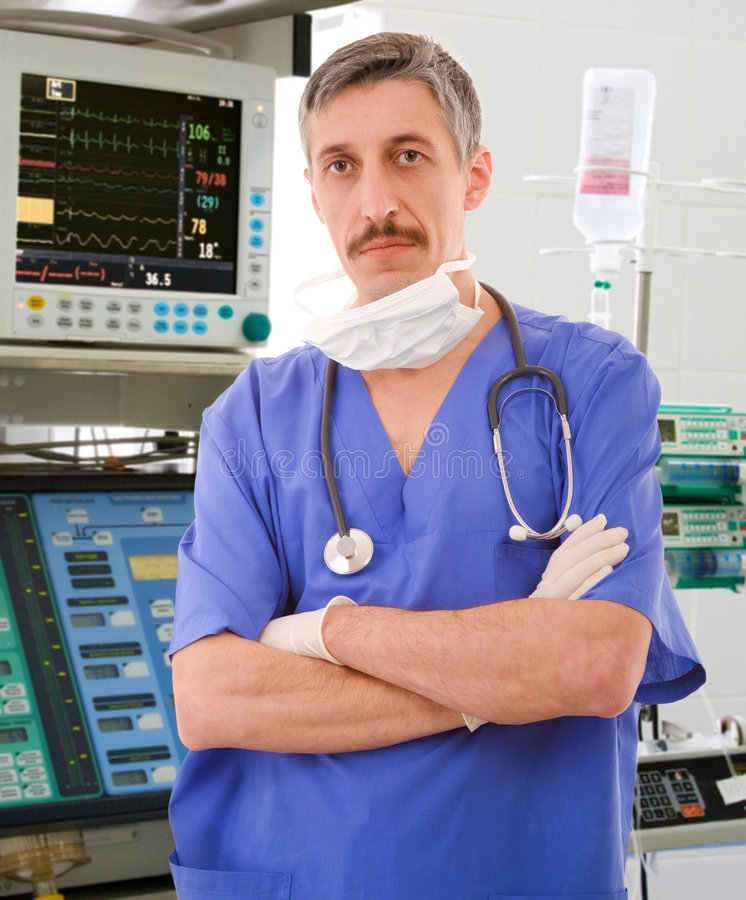 Download Experienced Physician In ICU Royalty Free Stock Photography - Image: 5475887
