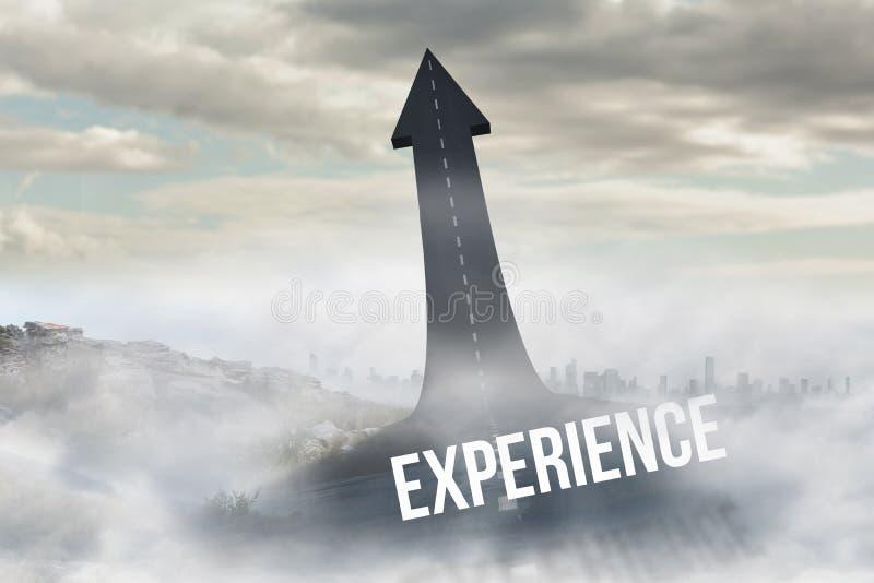 Experiencia contra el camino que da vuelta en flecha libre illustration