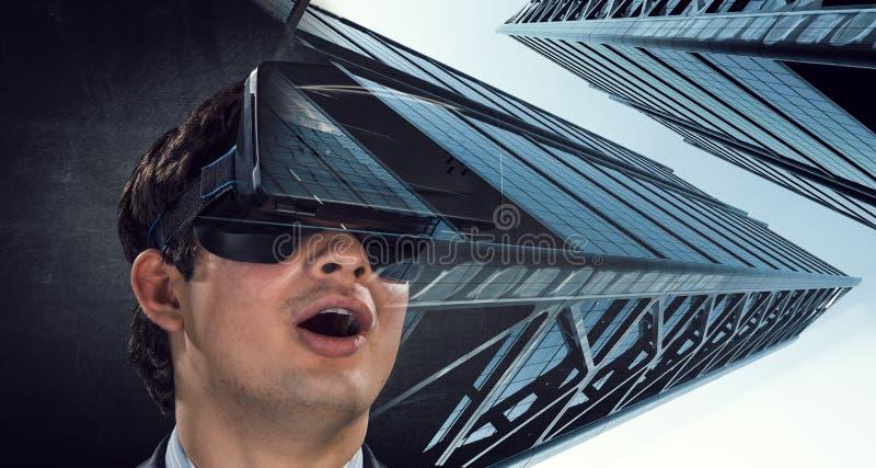 Experiencia de la realidad virtual Tecnolog?as del futuro fotografía de archivo