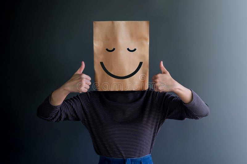 Experiencia del cliente o concepto emocional humano imagen de archivo libre de regalías