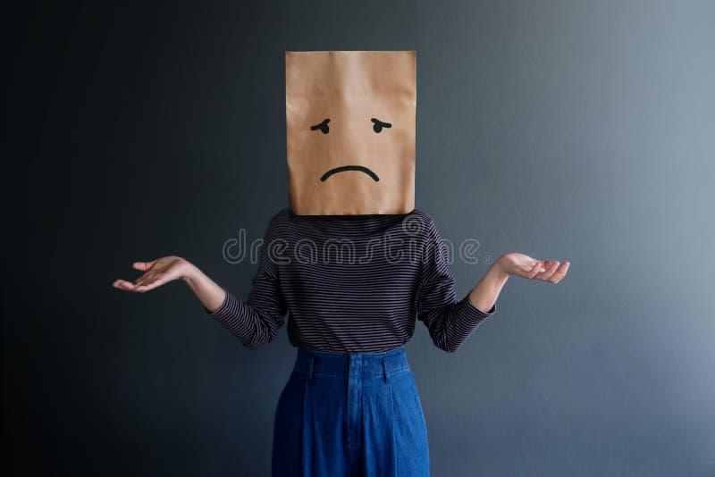 Experiencia del cliente o concepto emocional humano fotografía de archivo libre de regalías