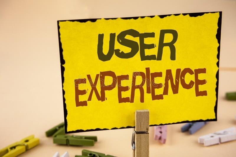 Experiencia del usuario de la escritura del texto de la escritura Desarrollo de la infraestructura del web de la reacción de la e foto de archivo