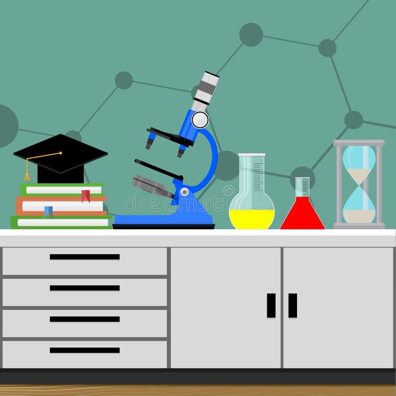 Experiment der biologischen Wissenschaft vektor abbildung