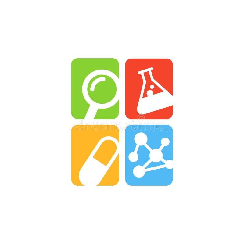 Experiment im Wissenschafts-Forschungs-Labor lizenzfreie abbildung