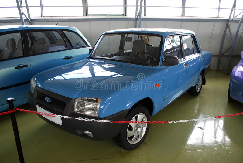 Experimental cars in the Technical museum of AVTOVAZ. City of Togliatti. Samara region. Russia stock photos