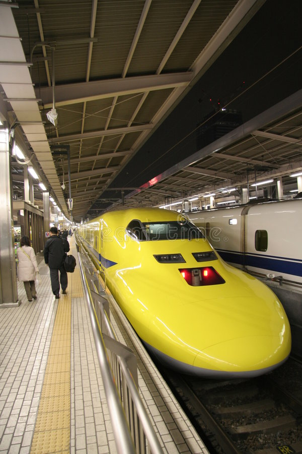 Experimental Shinkansen royalty free stock photography