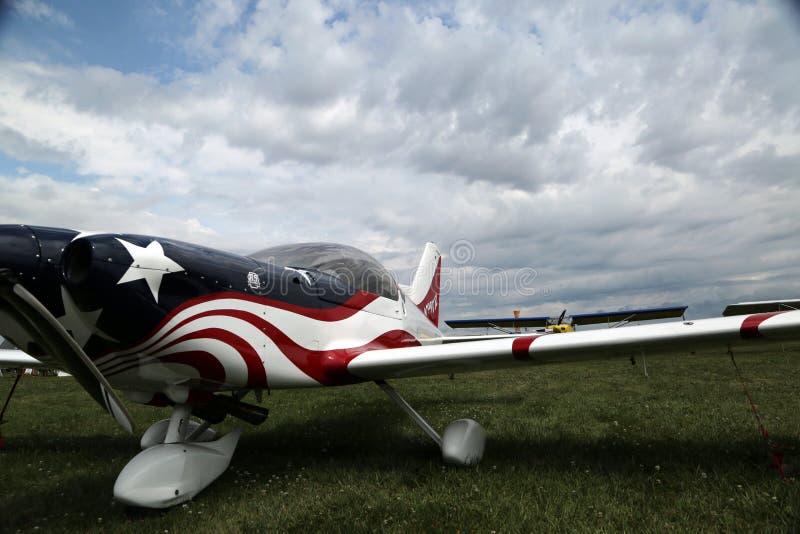 Experimentellt flygplan på EAA AirVenture i Oshkosh royaltyfri foto