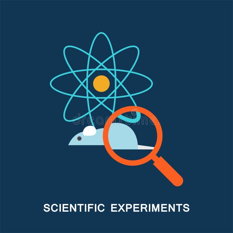 experimenterar vetenskapligt stock illustrationer