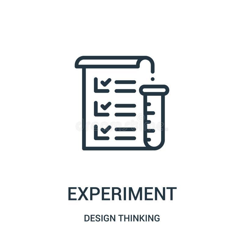 Experimentikonenvektor von denkender Sammlung des Entwurfs D?nne Linie Experimententwurfsikonen-Vektorillustration stock abbildung